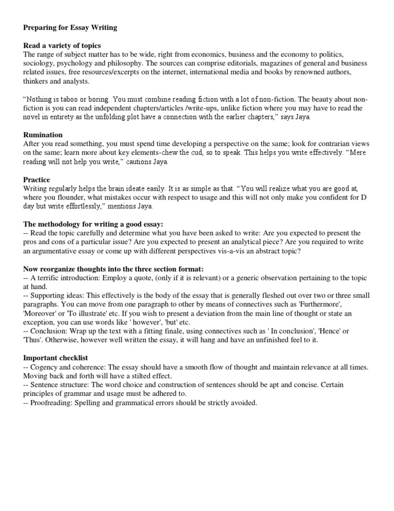 basic rules of writing
