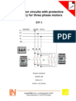 Contactor circuits with protective circuitry for three phase  motors EST2