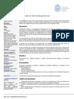 Diplomado en Gerontologia Social