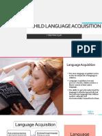 Child language aquisition