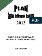 PLAN DE GESTION DE RIESGO DE DESASTRE -GDR.