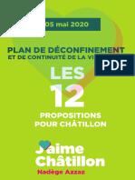 Plan de Déconfinement de la ville de Châtillon by J'aime Châtillon