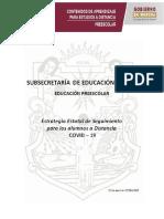 PREESCOLAR ESTRATEGIA DE SEGUIMIENTO