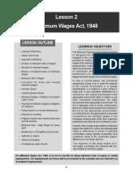 Minimum Wage Act
