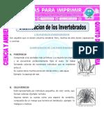 Ficha-Clasificacion-de-los-Invertebrados-para-Quinto-de-Primaria