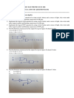Module 2 Logic gates and Boolean Algebra Question Bank Feb 2018 (1)