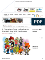 11 Characters From Indian Comics That Will Stay With You Forever