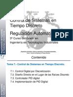 Tema 7. Control de Sistemas en Tiempo Discreto 2016-2017