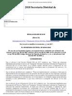 Resolución 055 de 2018 Secretaría Distrital de Movilidad