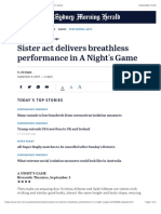 sister act delivers breathless performance in a nights game