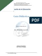 Guía didáctica de Filosofía de la Educación