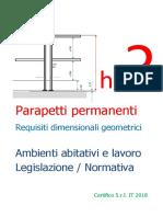 Parapetti permanenti - Requisiti dimensionali geometrici