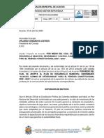 1. Proyecto de Acuerdo PDM