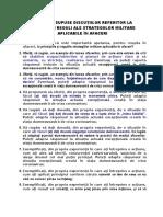EXERCITII aferente PRICIPIILOR SI REGULILOR STRATEGIILOR MILITARE APLICABILE IN AFACERI.docx