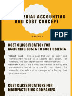 Managerial Accounting and Cost Concept