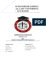 Affirmative Action Law