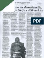 Hvala lepa za demokracijo, kjer ljudje živijo s 400 evri na mesec - Primorske Novice 24-12-2010