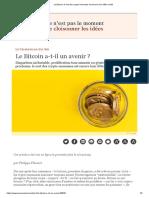 Le Bitcoin, le sort des crypto-monnaies est encore loin d'être scellé