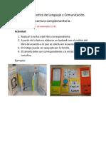 Trabajo Practico de Lenguaje y Comunicación lapbook lectura complementaria