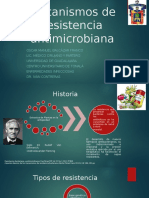 Mecanismos de resistencia antimicrobiana