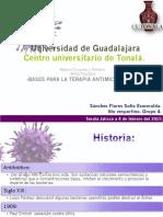Bases para la terapia antimicrobiana.Sánchez Flores
