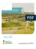 Saskatchewan Health Authority – Service Resumption Plan