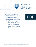 Action Plan for the Implementation of the Cyber Security Concept of the Slovak Republic for 2015 2020 3