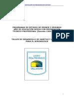 TALLER DE DESARROLLO DE HABITOS Y APTITUDES PARA EL APRENDIZAJE