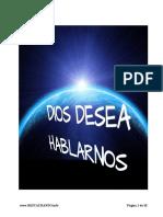 DIOS DESEA HABLARNOS