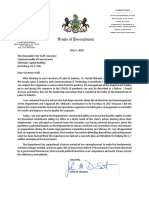 Sen. John DiSanto's letter calling for Labor & Industry secretary's resignation