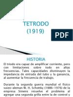 TETRODO Y PENTODO.