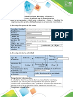 Guía de actividades y rúbrica de evaluación - Fase 4 - Realizar la representación gráfica de las figuras en proyección isométrica