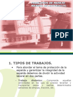 PRINCIPIOS DE MANEJO MANUAL DE MATERIALES