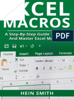 Excel Macros A Step by Step Guide to Learn and Master Excel Macros