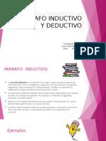 PARRAFO INDUCTIVO Y DEDUCTIVO