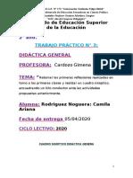 RODRIGUEZNOGUERACAMILA_TRABAJO CLASE 3 DIDACTICA GRAL
