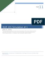 NUR 101 Simulation