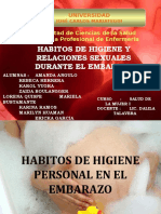 higiene y relaciones durante el embarazo