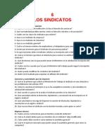 LOS SINDICATOS (CUESTIONARIO)