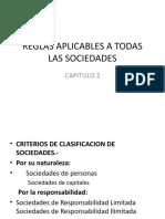 Reglas aplicables a las sociedades comerciales (1)