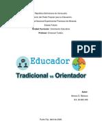 Educadores Tradicionales vs Orientadores (Cuadro comparativo)