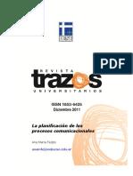 Ana María Feijóo Planificación de los procesos comunicacionales