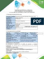 Guía de Actividades y rúbrica de evaluación - Post Tarea - Estimación del área de un relleno sanitario