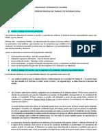CUESTIONARIO Procesal laboral colombia