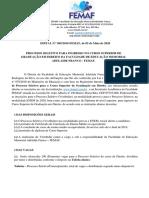 Edital Vestibular Femaf 2020.2 -Direito