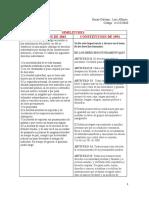 APORTES FORO SOBRE LAS CONSTITUCIONES POLITICAS DE 1863 Y 1991