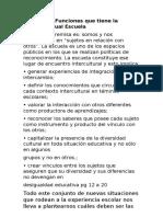 Las Funciones que tiene la escuela actual Escuela.docx