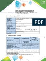 Guía de actividades y rúbrica de evaluación -  Fase 2 - Ordenamiento territorial