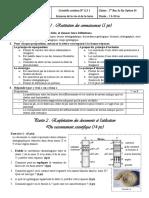 Devoir 2 Modele 5 Svt 1 Bac Sc Ex Semestre 1