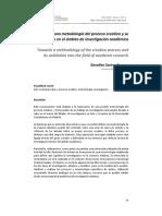 Hacia una metodología del proceso creativo y su validación en el ámbito de investigación académico